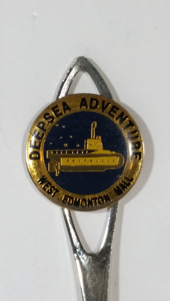 Deep Sea Adventure West Edmonton Mall Silver Plated Steel Souvenir Spoon Travel Collectible