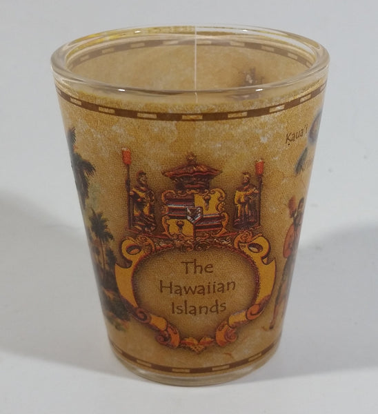 "The Hawaiian Islands Map Themed 2 3/8"" Tall Shot Glass"