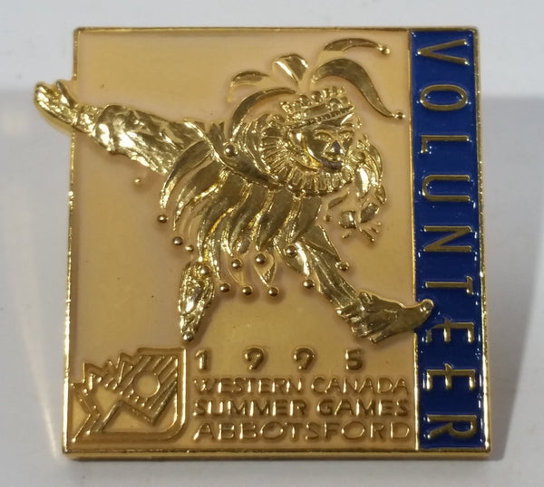 1995 Western Canada Summer Games Abbotsford Volunteer Gold Tone Metal Pin