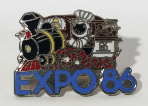 Vancouver Expo 86 World's Exposition Train Locomotive Themed Enamel Metal Pin
