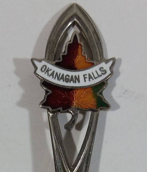 Okanagan Falls Maple Leaf Themed Metal Souvenir Spoon Travel Collectible