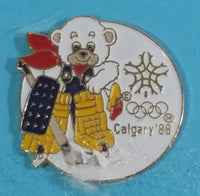 Calgary Olympic Games Howdy Bear Mascot and Snowflake Olympic Rings Enamel Metal Pins Set of 6