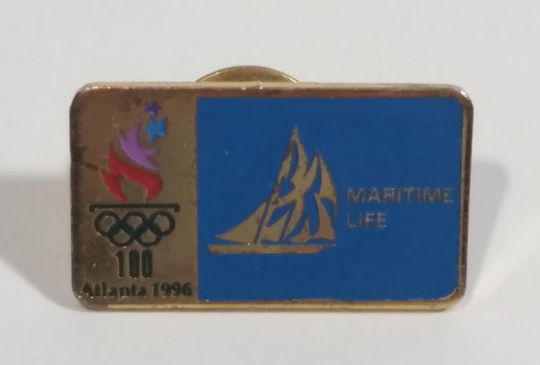 1996 Atlanta Summer Olympic Games Maritime Life Insurance Metal Pin Sports Collectible