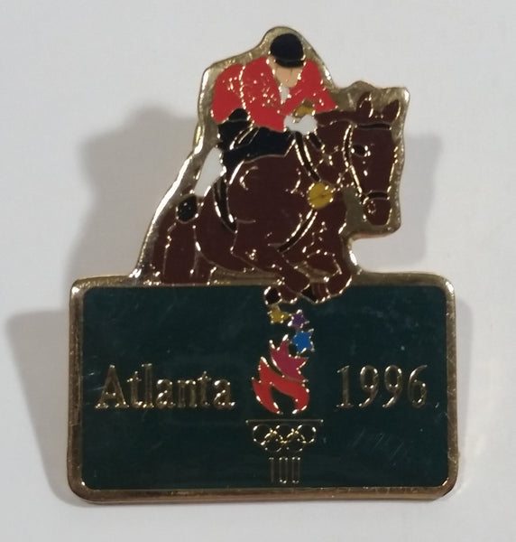 1996 Atlanta Summer Olympic Games Equestrian Horse Jump Metal Pin Sports Collectible