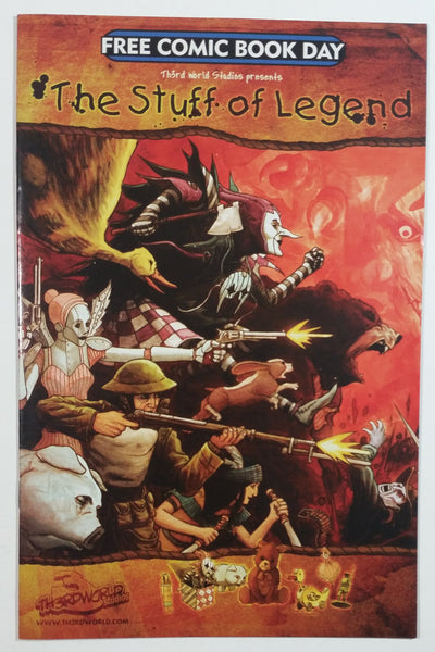 Rare 2009 Th3rd World Studios Free Comic Book Day The Stuff of Legend #1 First Print