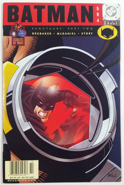 2001 October DC Comics Batman Sanctuary: Part Two #594 Comic Book