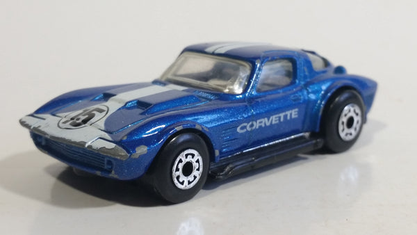 1992 Matchbox Corvette Grand Sport Blue 1:58 Scale Die Cast Toy Car Vehicle