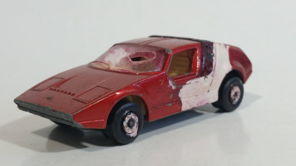 Vintage 1972 Lesney Matchbox Superfast Siva Spyder Red Die Cast Toy Car Vehicle Made in England