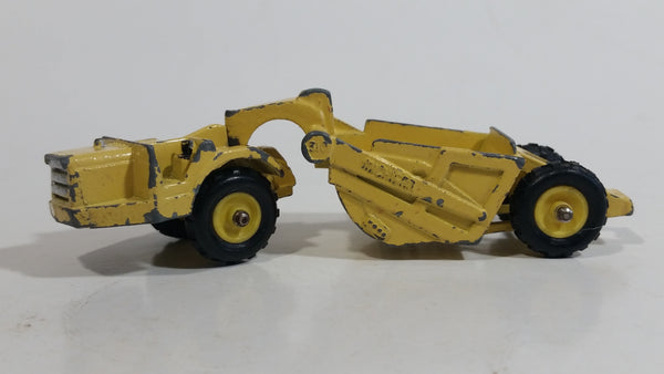 Vintage 1968 Mini Dinky Meccano No. 98 Michigan Scraper Yellow Die Cast Toy Car Construction Vehicle Made in Hong Kong