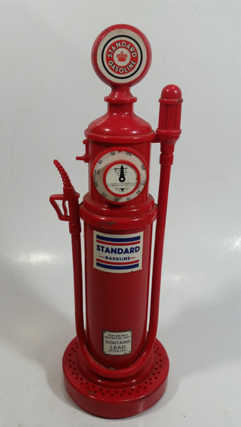 "Rare Standard Gasoline 9 1/2"" Tall Gas Pump Shaped AM/FM Radio - Not Working"