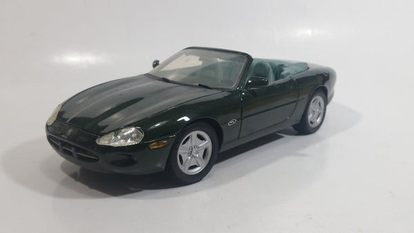 Maisto Jaguar XK8 Convertible Dark Green 1/18 Scale Die Cast Toy Car Vehicle with Opening Doors, Hood, and Trunk - Broken Wipers