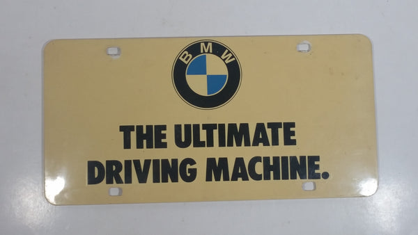 "BMW ""The Ultimate Driving Machine"" Dealership Plastic Vanity License Plate"