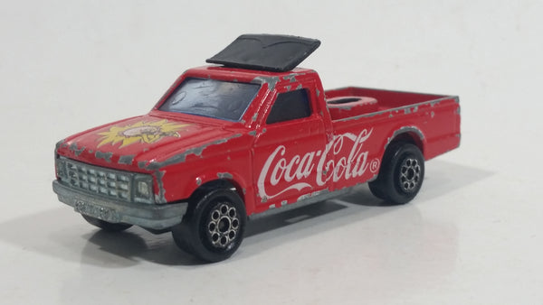 Vintage Majorette Coca-Cola Coke Camping Car Truck Red Die Cast Toy Car Vehicle No. 278 1/60 Scale