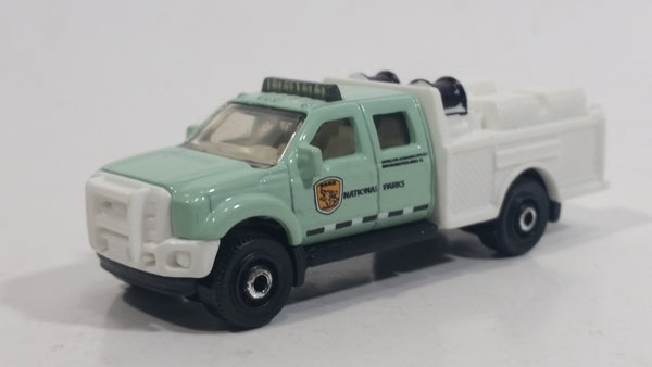 2012 Matchbox MBX National Park Ford F-550 Super Duty Mint Green and White Die Cast Toy Car Vehicle