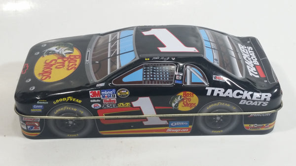 "2006 Palmers Double Crisp Martin Truex Jr. #1 Chevrolet ""Bass Pro Shops"" Nascar Race Car Shaped Tin Collectible #0794810 - Empty"