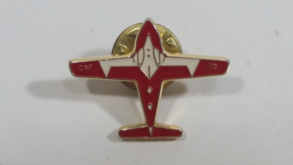 Canadian Air Force CAF 175 Airplane Plane Red and White Shaped Metal and Enamel Pin