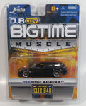 2006 Jada Big Time Muscle 2006 Dodge Magnum R/T Black Die Cast Toy Car 1:64 Scale New In Package