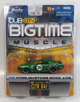 2005 Jada Dub City Big Time Muscle '70 Ford Mustang Boss 428 #70 Green Die Cast Toy Car Vehicle 1:64 Scale