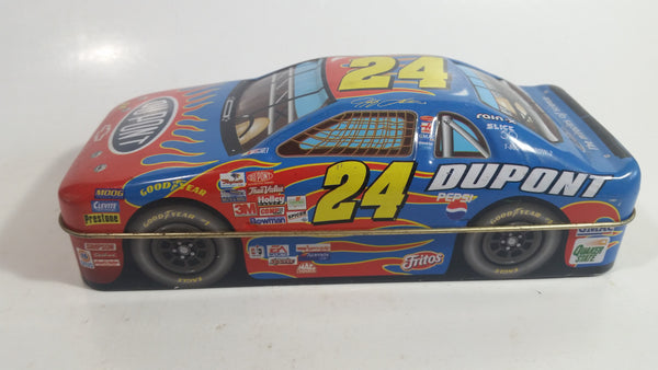 "2001 Palmers Double Crisp Jeff Gordon #24 Chevrolet ""Dupont"" Nascar Race Car Shaped Tin Collectible #7904850 - Empty"