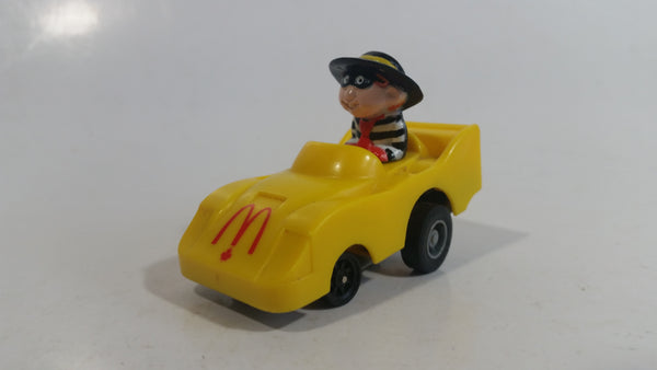 1988 McDonald's Turbo Macs The Hamburglar Yellow Toy Pull Back Friction Motorized Plastic Toy Car Vehicle - Happy Meals