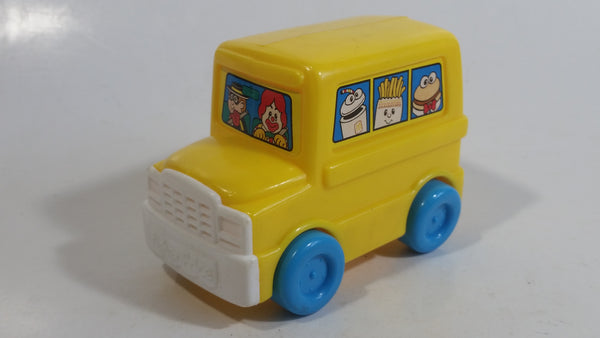 1996 Fisher Price McDonald's Characters Yellow School Bus Toy Plastic Toy Car Vehicle