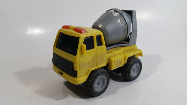 Unknown Brand Yellow and Grey Cement Mixer Truck Toy Car Construction Equipment Vehicle