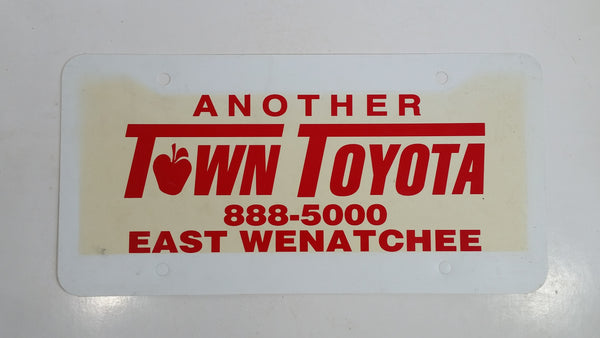Another Town Toyota East Wenatchee Dealership Plastic Vanity License Plate