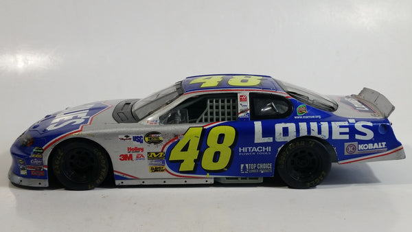 2003 Racing Champions Nascar #48 Jimmie Johnson Lowe's Chevrolet Monte Carlo Blue 1/24 Scale Die Cast Model Toy Race Car Vehicle