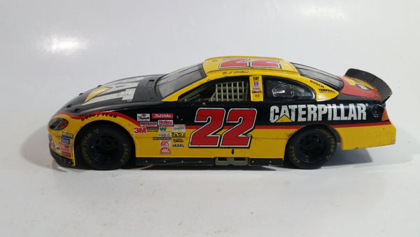 2001 Racing Champions Nascar #22 Ward Burton CAT Rental Dodge R/T Yellow  and Black 1/24 Scale Die Cast Model Toy Race Car Vehicle