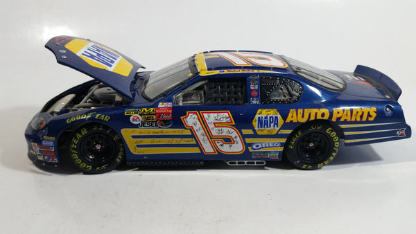 2003 Action Racing Nascar #15 Michael Waltrip NAPA Chevrolet Monte Carlo Blue 1/24 Scale Die Cast Model Toy Race Car Vehicle with Opening Hood