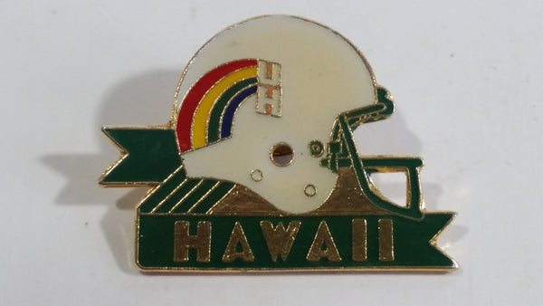 NCAA Football University of Hawaii Rainbow Warriors Helmet Shaped Enamel Metal Pin