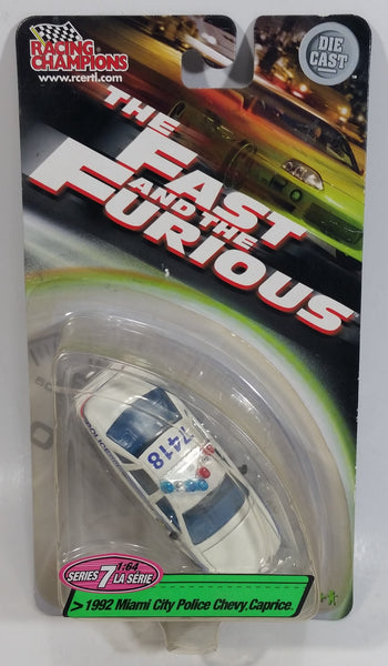 2003 Racing Champions Ertl The Fast And The Furious Series 7 1992 Miami City Police Chevy Caprice 1/64 Scale Die Cast Toy Car Vehicle New in Package