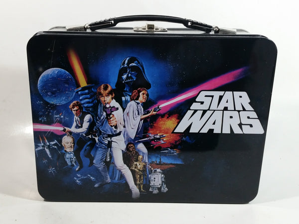 2014 Vandor Lucas Films Star Wars Black Tin Metal Lunch Box