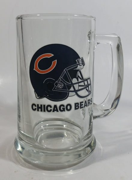 "Chicago Bears NFL Football Team 5 1/2"" Glass Beer Mug Cup with Helmet Graphic"