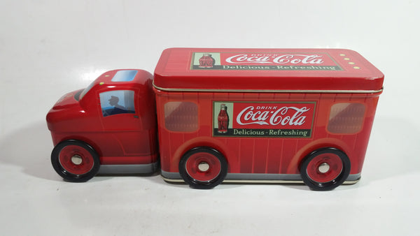 Drink Coca-Cola Coke Delicious Refreshing Semi Truck Shaped Tin Metal Container