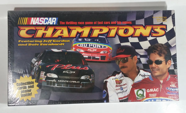 Milton Bradley NASCAR Champions Race Car Racing Board Game Featuring Jeff Gordon and Dale Earnhardt New Still Sealed in Package