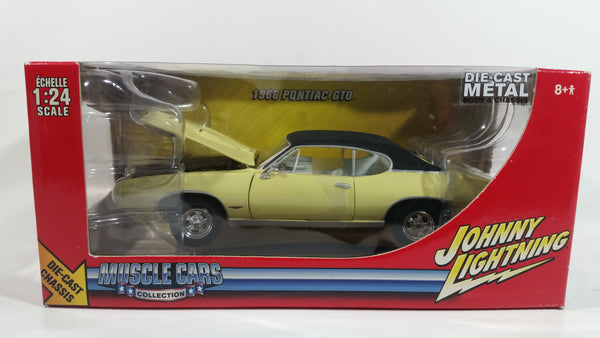 2006 Johnny Lightning Muscle Cars Collection 1968 Pontiac GTO Light Yellow 1/24 Scale Die Cast Toy Car Vehicle New In Box