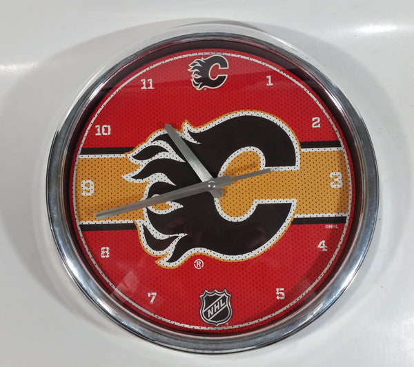 "Calgary Flames NHL Ice Hockey Team 11 3/4"" Diameter Wall Clock"