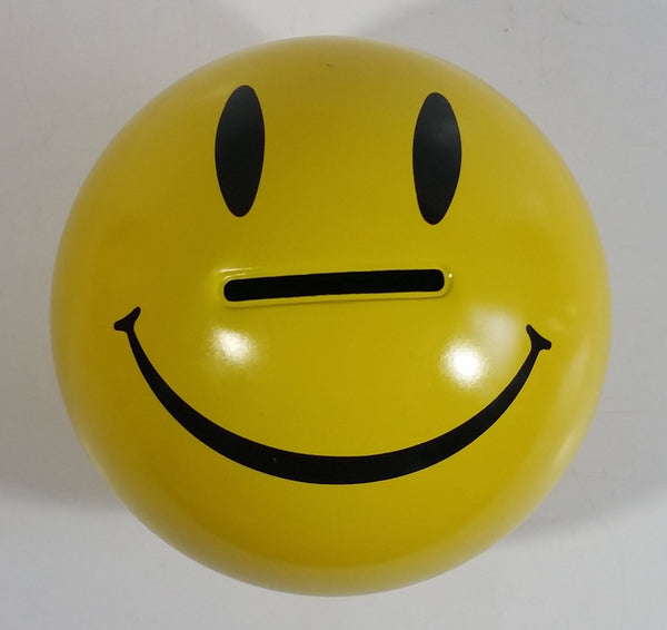 Nobel Ball Smiley Face Themed Yellow Tin Metal Coin Bank