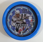 "NHL Ice Hockey Tampa Bay Lightning Player Steve Stamkos #91 Round 8"" Diameter Blue Clock"