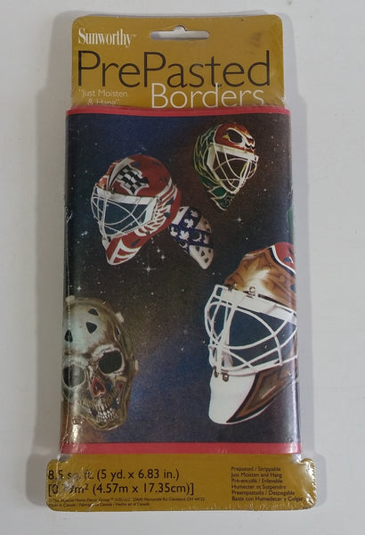 Sunworthy Ice Hockey Goalie Mask Helmet Themed Wallpaper Pre-Pasted Border New in Package