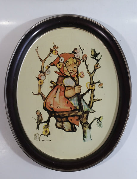 "Vintage 1982 Ars Edition Hummel ""Apple Girl"" Oval Shaped Tin Metal Beverage Tray"