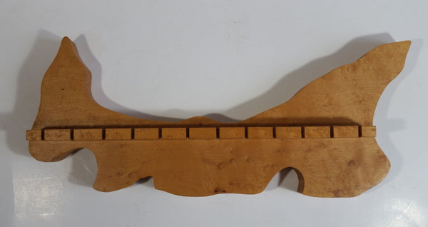 Vintage Wood Spoon Holder Handcrafted by Don Bremner of Kensington, P.E.I.