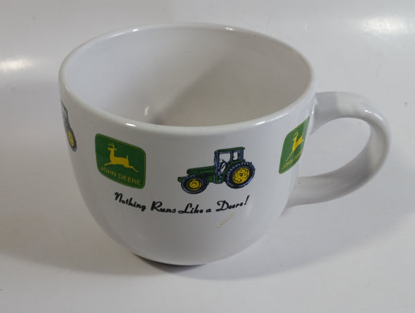 Gibson John Deere Tractors Nothing Runs Like a Deere! Ceramic Over-sized Soup Bowl Coffee Mug