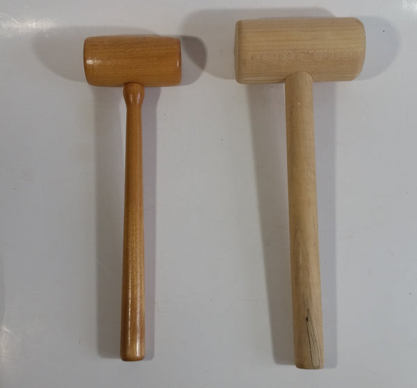 Set of 2 Decorative Wooden Gavels Mallets