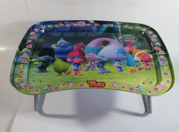 2016 Dreamworks Trolls Movie Folding Metal Lunch TV Tray Collectible