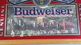 "Vintage Stamford Art Genuine Budweiser Beer Clydesdale Horses 18"" x 24"" Large Bar Lounge Pub Mirror"