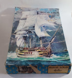 Vintage Heller Royal Louis Tall Ship Model Boat Kit in Box - Started