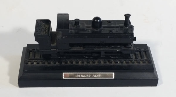Pannier Tank Engine Train Railroad Locomotive Black Sculpture Made of Real Coal