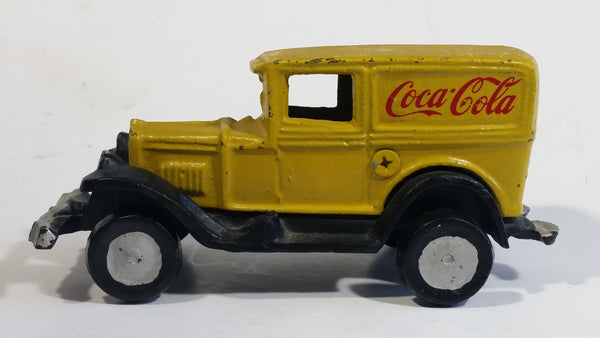 Vintage Coca Cola Coke Yellow Cast Iron Delivery Truck Toy Car Vehicle